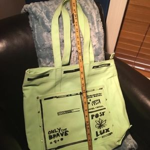 NEW DIESEL Only The Brave Lux XL Shopper Tote Bag